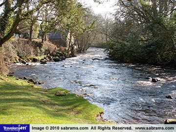 Beautiful Irish Creek on the grounds of Galgorm Hotel and Spa in Ireland.