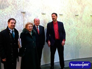 Guglielmo Marconi and Princess Ellectra Marconi with CEO Paul Carty and Mark Leslie at the Guinness Storehouse.
