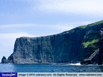 The Cliffs of Moher seen from the sea on a Doolin Ferry curise.