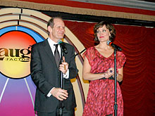 Bob Zany and Zan Aufderheide perform at the Vegas Laugh Factory, Las Vegas, Nevada, USA.