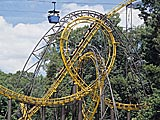 Loch Ness Monster roller coaster at Busch Gardens in Williamsburg, Virginia