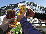 Enjoying beer at the lodge in Utah