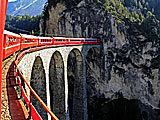 Vacations by Rail.  The Glacier Express is one of Switzerland\'s most scenic trains, offering a truly must-experience rail journey.