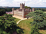 Highclere Castle, seen here from the south east, is the home of the 8th Earl and Countess of Carnarvon. It has also achieved worldwide fame of the setting the the internationally acclaimed tel