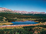 Amtrak's Empire Builder en route to Glacier National Park