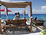 Romantic Settings at Hotel B in Cozumel Mexico.