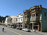 Main Street, Ferndale, California. A great place to be while visiting the Redwoods and Humboldt County. (Photo by Matt Knowles, Aesthetic Design)