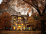 Fall color at The Ahwahnee in Yosemite Valley