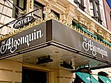 The Algonquin Hotel in New York City on 44th Street.
