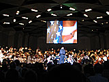 Kieth Lockhart conducting the Boston Symphony Orchestra at Tanglewood.