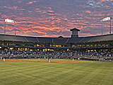 Dickey-Stephens Ballpark in Littlerock, Arkansas, USA.