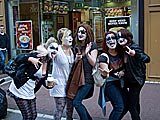 Kiss fans in Dublin, Ireland.