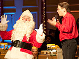 Holiday Pops!  Keith Lockhart and Santa at Boston Symphony Hall