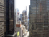 The Marriott Courtyard Central Park's View Towards Times Square.