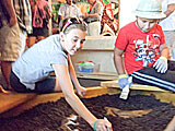 Exploration Station Children's Museum, Bourbonnais, Illinois, USA.  Dino Fossil Dig Site