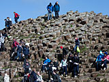 Tourists enjoying Ireland's Giant's Causeway