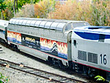 Amtrak viewing car.