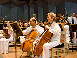 The Boston Symphony Orchestra at their summer home Tanglewood in Lenox, Massachusetts.