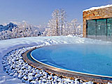 THE MOUNTAIN SPA - heatet outdoor pool at Intercontinental Berchtesgaden Resort, Berchtesgaden, Germany.