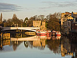 River Ouse, York\r\nYork owes its existence to the rivers Ouse and Foss. The island they created made York an ideal defensive site and the River Ouse an important trading highway. Now the rivers