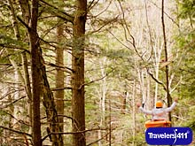 Kayaking meets ziplining at Ramblewild in Massachusetts.