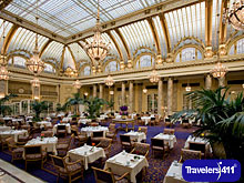 The Garden Court at the Palace Hotel in San Francisco, California, USA.