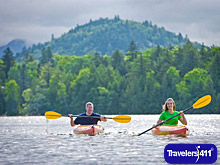 Kayaks on Lake Placid