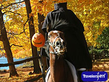 Headless Horseman during Legend Weekend in Westchester County, NY.