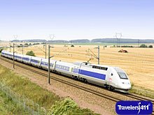 France\'s TGV high-speed train.