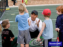 """Getting ready for """"Future Stars"""", one of the junior tennis clinics offered at Hammock Beach Resort!"""