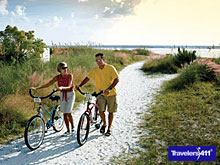 Beach Biking in Sarasota, Florida.