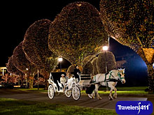 Carriage Rides are offered during A Country Christmas at Gaylord Opryland Resort and Convention Center.