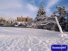 A snowy day at Belvedere House, a magical place to visit what ever the season in Ireland.