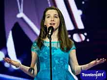 Aimee Banks, Ireland Representative and Young Irish Saprano from Galway, Ireland, Junior Eurovision Song Contest, Sophia, Bulgaria.