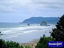 View of Oregon Coast.  Blind Curves - Travel Memoir about Motorcycle Trip to Pacific NW.