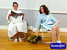 "Town Players of Pittsfield, MA.  Scene from the staged reading of ""The White Uniform"" by Sergio Vodanovic."
