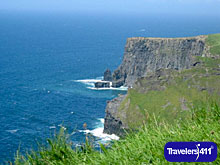 Cliffs of Moher.  Towards Aillenasearrach (Cliffs of the Ponies) & Galway Bay.
