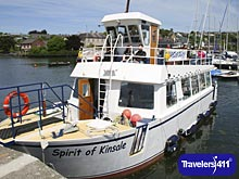 The Spirit of Kinsale a Kinsale Harbour Cruises ship in Kinsale Harbour, Ireland.