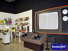 Giant version of Pong video game at the National Video Game Museum in Frisco, Texas, USA.