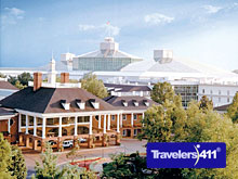 Gaylord Opryland Resort covers nearly 50 acres.