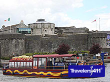 Viking ship Beside Athlone Castle in the Heart of Ireland.