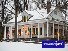 Caldwell House Bed and Breakfast, Salisbury Mills, Hudson Valley, New York, USA in winter.