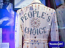 Elvis Presley had this robe custom-made for Muhammad Ali on display at the Muhammad Ali Museum.