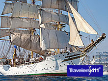 Tall Ships under full sail. photo credit: Sail Training International