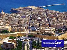Arial view of Valletta in Malta