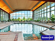 Indoor Pool and Hot Tub at Embassy Suites Hotel and Spa in Huntsville, Alabama.
