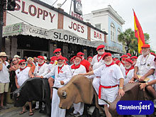 Sloppy Joe's Key West, FL - Annual Running of the Bulls