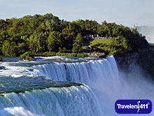 The iconic American Falls is just one of the three Falls at Niagara Falls.