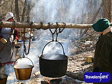 Genesee County Village & Museum. In the spring, it's maple sugaring time.
