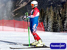 Andrew Weibrecht, Olympic Skier at bottom of the training run at Copper Moutain, Colorado.